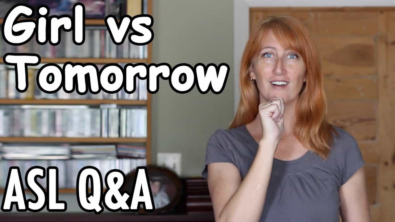 ASL for yesterday,today,tomorrow - YouTube  |Asl Sign Tomorrow